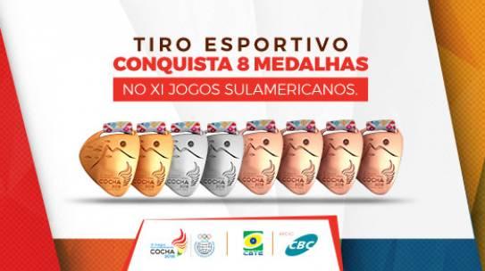 Brasil ganha 8 medalhas no XI Jogos Sulamericanos 2018